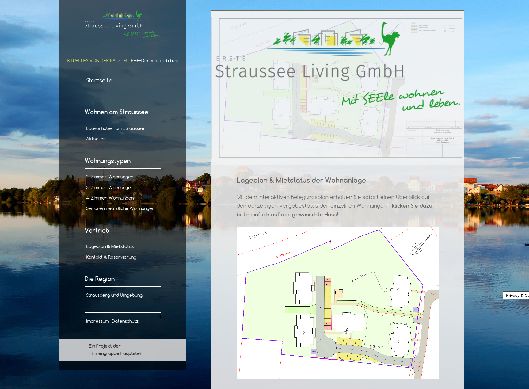 screenshot der Internetseite straussee-living.de