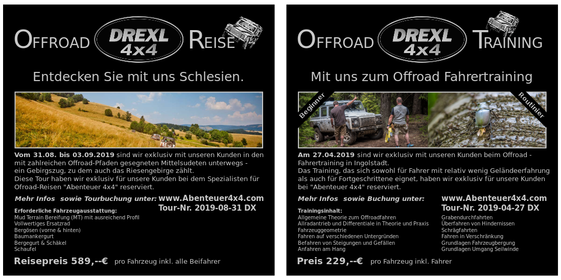 screenshot des Flyers Tour und Reise